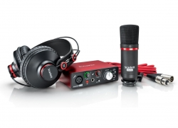 Focusrite Scarlett Solo Studio Pack 2nd generation - Microfone CM25 MKII + Interface Scarlett Solo 2i2 2nd + Phones HP60 + Cabo XLR