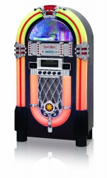 Jukebox Ricatech RR1000 Leds RGB - CD + MP3 + Radio + AUX + Comando