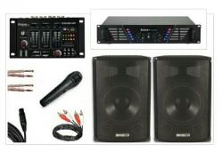 P.A. 1.000 - 2 Colunas + Mesa + Amplificador + Micro + Cabos - 1.000W