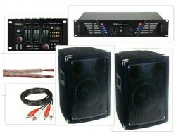 P.A. 600 - 2 Colunas + Mesa + Amplificador + Cabos - 600W