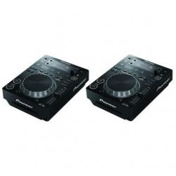 2 Leitores single Pioneer CDJ-350 - CD-R/RW + USB + MP3 + AAC + AIFF + WAV + MIDI - preto