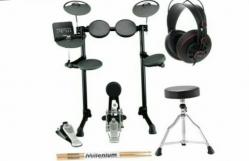 Pack de Bateria Electronica Yamaha DTX450K Compact E-Drum Bundle + Banco + Baquetas + Phones