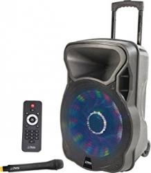 Coluna amplificada Party 12LED - 700W - 12 polegadas - 1 Micro + USB + SD Cards + Bluetooth + Efeitos + Radio + Comando - a bateria/s