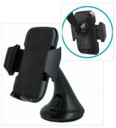Suporte universal de Automovel para Telemoveis 3 C CH-016 - para Smartphones, GPS's e Leitores MP3 - preto