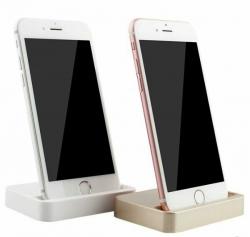 Suporte de secretaria para iPhone 5, 6, 7, 8, X e todos os modelos S ou Plus (igual a iPhone Lightning Dock) + Cabo
