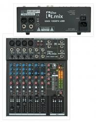 Mesa de Mistura T.Mix xmix 1002FX USB - 10 vias - Efeitos