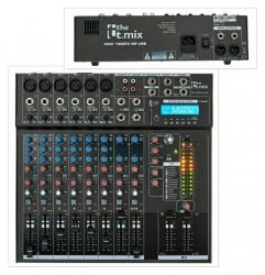 Mesa de Mistura T.Mix xmix 1202FXMP USB - 12 vias - USB + MP3 + SD Cards + Efeitos