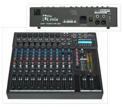 Mesa de Mistura T.Mix xmix 1402FXMP USB - 14 vias - USB + MP3 + SD Cards + Efeitos