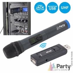 Micro sem fio de mao + Receptor Party WM-USB - UHF
