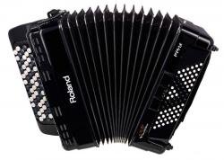 Acordeon Roland FR-1XB BK - de botoes - digital - USB + MIDI - preto