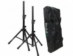 Pack de 2 Tripes de Coluna de encaixe standard (35mm) + 1 Saco - Ibiza SS01B