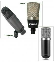 Microfone para Voz T.Bone SC 300, Fame CM2 ou 3 C NW/BM-700 - condensador - preto, azul e castanho
