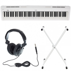 Piano Digital Kawai ES-110 B/W Set + Suporte + Headphones - em preto ou branco
