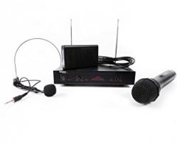 Micro sem fio 1 de mao + 1 headset + Receptor Ibiza VHF2H - VHF