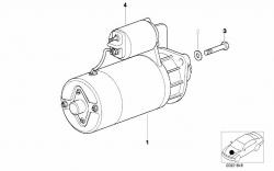 Motor de Arranque - BMW Series 3/5/7 (Cabriolet, Compact, Coupe ou Touring) e BMW Z3 - E30/E36/E38/E39 - OEN: 12412354709
