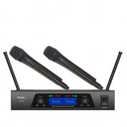Micro sem fio 2 de mao + Receptor Ibiza UHF20 - UHF