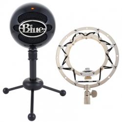 Microfone para Voz Blue Snowball Black Ringer Bundle + Aranha