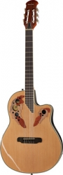 Guitarra Semi-Acustica Harley Benton HBO-850 Classic - nylon - roundback - natural e azul