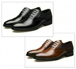 Sapatos de Homem Hee grand Executive - pele/PU/microfibra/borracha - sola rasa - em preto ou castanho