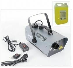 Maquina de Fumo Party FOG1200LED - 1.200W - analogica - com 6 Leds de 3W - comando a distancia + 5L Liquido