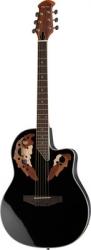 Guitarra Semi-Acustica Harley Benton HBO-850 BK - aco - roundback - preto