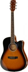 Guitarra Semi-Acustica Harley Benton D-120CE VS - aco - vintage sunburst