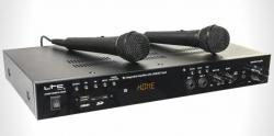 Amplificador LTC ATM6100MP5-HDMI - 100-200W - HDMI + USB + SD Cards + Radio + Bluetooth + 2 Micros e ligacao