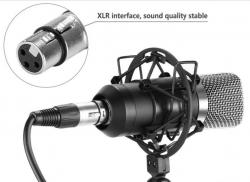 Set 15 - Microfone de Estudio de condensador + Esponja + Aranha + Cabo
