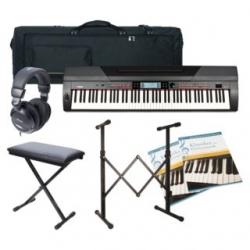 Piano Digital Fame Stage SP-4 Deluxe - Set + Banco + Saco + Suporte + Headphones + Livros