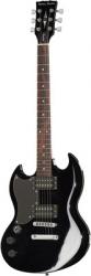 Guitarra Electrica para Esquerdinos Harley Benton DC-200LH BK Student Series - SG style - preto