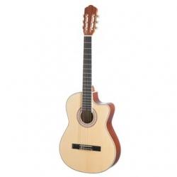 Guitarra Semi-Acustica Almeria CC 36 EQ Classic BK/NT - 4/4 - nylon - preto ou natural