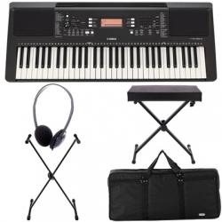 Teclado Yamaha PSR-E363 Deluxe Bundle + Banco + Saco + Suporte + Headphones