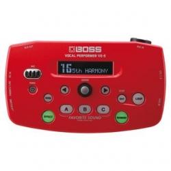 Processador de Voz Boss VE-50 Vocal Performer - em branco ou vermelho
