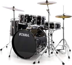 Bateria Acustica completa Tama Rhythm Mate Standard + 4 Pratos - preto