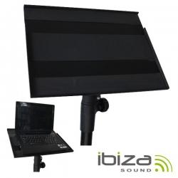 Stand Ibiza SLAP150 - para PC's Portateis - para adaptar nos Tripes de Coluna de 35mm - 41,5x31,5cm - preto