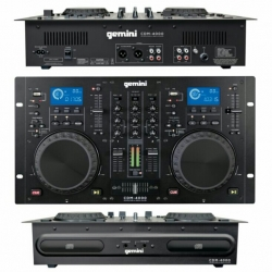 Leitor duplo + Mesa Gemini CDM-4000 - 2 CD + 2 USB + MP3 - preto