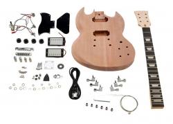 Kit de Montagem de Guitarra Electrica Harley Benton Electric Guitar Kit Double Cut Style - SG Style