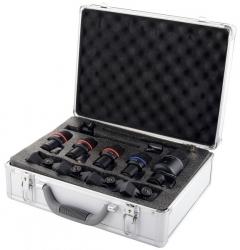 Pack de Microfones de Bateria Superlux DRK K5C2 - 7 Micros + 4 Clamps + 7 Pincas + Mala
