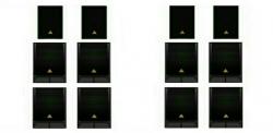 12 Colunas Behringer - 8 Subgraves VP1800S + 4 Colunas VS1220 - 15.200W