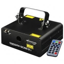 Laser JB Systems Smooth Scan 3 - 140mW - verde e vermelho - DMX - comando a distancia
