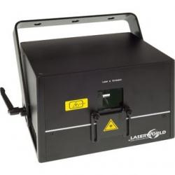 Laser Laserworld DS-5500 B - 5500mW - azul - DMX