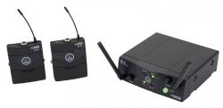Transmissor + 2 Receptores AKG WMS 40 Mini Dual Instrument - para guitarras ou baixos