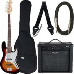 Pack Harley Benton JB22-Set 1 - Baixo + Amplificador + Saco + Cabo + Alca