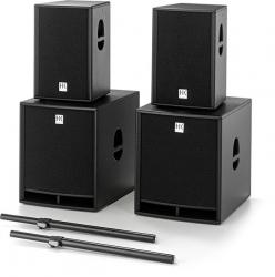 P.A. HK Audio Premium PR:O Set 12/18 - 2 Subgraves PR:O 18 S + 2 Colunas PR:O 12 + 2 Barras - 3.600W