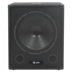 Subgrave amplificado QTX QT Series 18 - 600W - 18 polegadas