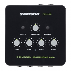 Pre-Amplificador para Phones Samson QH4 - 4 vias