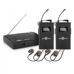 Sistema duplo In-Ear sem fio + 2 Receptores Gear4Music - UHF