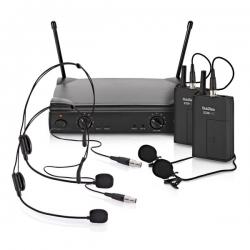Micro sem fio 2 headset e 2 de lapela + Receptor SubZero SZW-30 - UHF