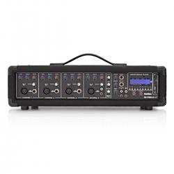 Cabeca-Mesa amplificada SubZero SZ-PMIX4-MP3 - 120-175W - 4 vias - Efeitos + USB + MP3 + SD Cards + Bluetooth