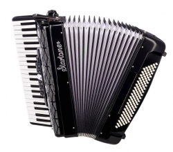 Acordeon Startone Piano Accordion 120 BK - de teclas - preto